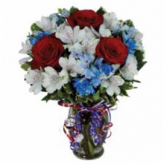 Here's to the Red, White & Blue Arrangement