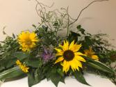 Hero Among Sunflowers Cremation Arrangement