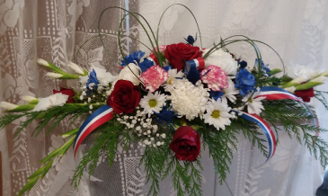 Hero's bouquet Patriotic flowers