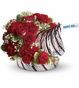 """Exclusively at Flowers Today Florist Hershey Kiss """"Keepsake Ceramic Candy Jar"""""""
