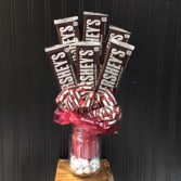 Hersheys Kisses and Half Dozen Candy Bar Bouquet!