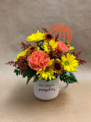 Hey There Pumpkin Mug Bouquet  in Moses Lake, WA | FLORAL OCCASIONS