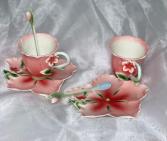 Hibiscus Tea Cup Garden Tea Set