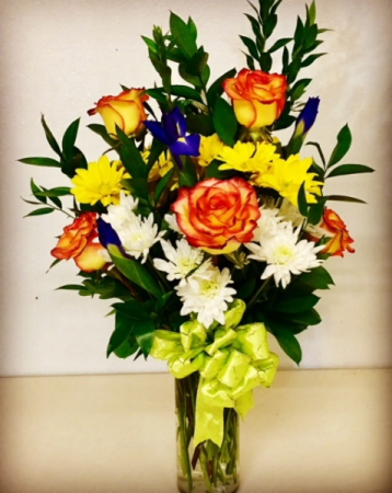 High and Magic 1/2 Dozen  Rose Arrangement