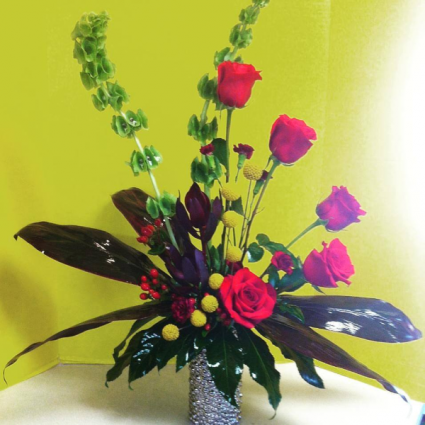 High style red roses Fresh
