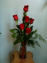 High Style Roses in Vase Always Popular