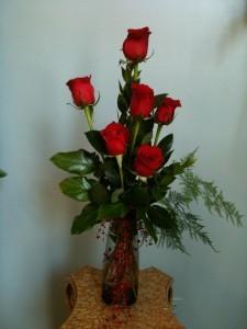High Style Roses in Vase Always Popular