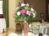 High Table Wedding Reception Flowers