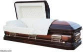 HIGHLAND CASKET 18 Gauge; Copper Brushed/Bronze; Champagne Velvet Also Available in Silver Brushed/Silver