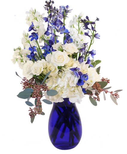 Hints of Sapphire Flower Arrangement
