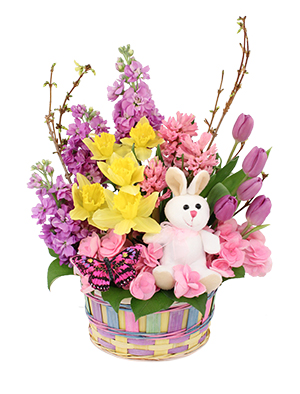 Hippity Hop Easter Basket in Dodgeville, WI | ENHANCEMENTS FLOWERS & DECOR