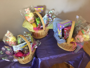 Hippy hop to the candy shop Basket of chocolates and asst candy with assorted trimsing in Renton, WA | Alicia's Wonderland II