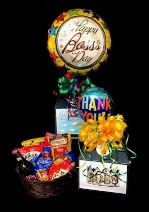 His Boss's Day Sweet & Salty Snacks with Root Beer in Plainview, TX | Kan Del's Floral, Candles & Gifts