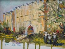 Historic Sacred Heart Hospital Original Oil by Nina Fritz