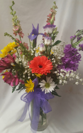Mixed Summer Garden Arrangement...seasonal flowers Mixed assortment of flowers and colors. May vary from picture according to flower selection