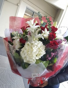 Hong Kong Style Roses and Lilies Bouquet **EXCLUSIVE @ ARIA FLORIST** in Vancouver, BC | ARIA FLORIST