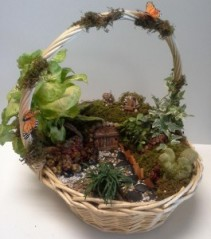 Hobbit Shire mixed succulent planter/ art