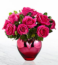 Hold Me in Your Heart™ Rose Bouquet - Hot Pink Rose Bouquet