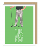 Hole In One Greeting Card