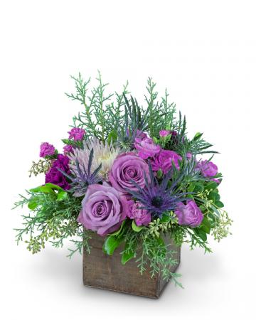 Holiday Amethyst Flower Arrangement