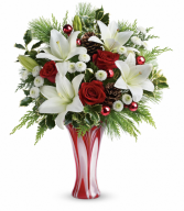 Holiday Artistry One-Sided Floral Arrangement