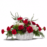 Holiday Basket Bouquet Centerpiece