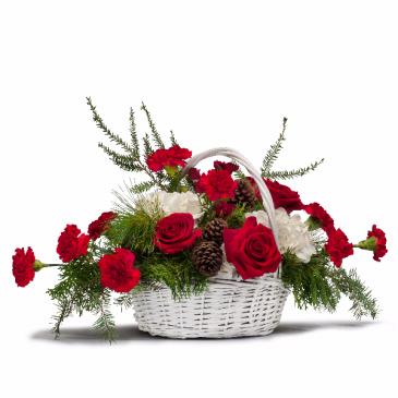 Holiday Basket Bouquet Centerpiece