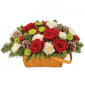 Holiday Basket of Cheer Basket Arrangement