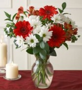 Red & White Beauty Vase