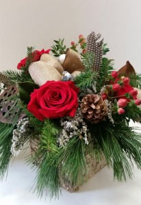 Holiday birch box