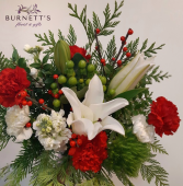 Holiday Bouquet (No Vase) Christmas Hand Tied Bouquet