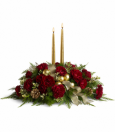 Holiday Candlelight Christmas Centerpiece