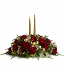 Holiday Candlelight Christmas Centerpiece