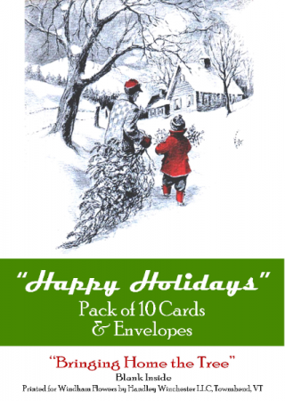 """Holiday Card Set Pack of 10 Cards """"Happy Holidays""""  Blank Inside"""
