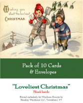 Holiday Card Set Pack of 10 Cards Loveliest Christmas