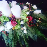 Holiday Center Piece With candles Fresh