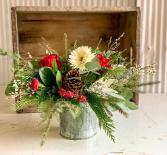 Holiday Centerpiece #2 Fresh Flower Centerpiece