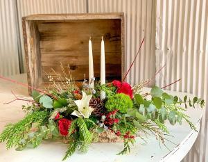 Holiday Centerpiece #3 Fresh Flower Centerpiece in Dixon, IL   WEEDS FLORALS, DESIGN & DECOR