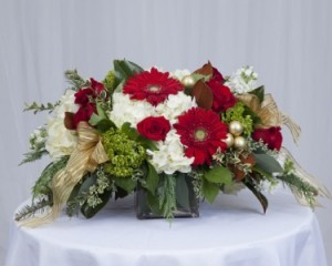 Holiday Centerpiece Centerpiece in Fairfield, CT | Blossoms at Dailey's Flower Shop