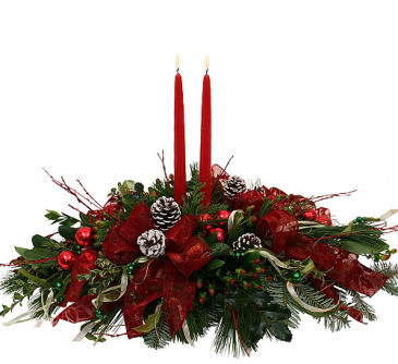 Holiday Centerpiece Christmas Arrangement