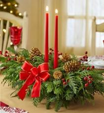 Holiday Centerpiece Christmas Arrangement