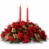 Holiday Centerpiece Fresh Centerpiece with candles