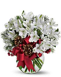 Holiday Cheer Bouquet Christmas Arrangement