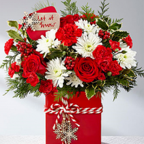 Holiday Cheer Bouquet Holiday Floral Arrangement