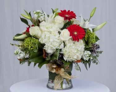 Holiday Cheer!!! Large Gathering Vase