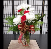 Holiday Cheer 1 Sided Bouquet
