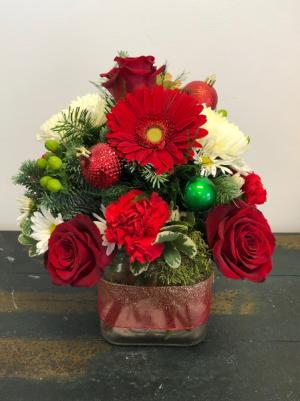 Holiday Cheer Vase Arrangement in Bluffton, SC | BERKELEY FLOWERS & GIFTS