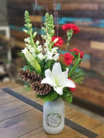 Holiday Cheer Vase Arrangement