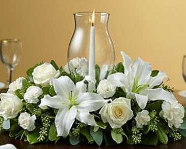 Holiday Cheer - White Centerpiece