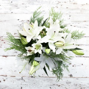 Holiday Cheerfullness European Hand Tied Cut Bouquet (no vase)